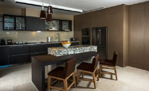 Kitchen with Granite and seating