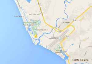 Resort area showing proximity to airport and Puerto Vallarta
